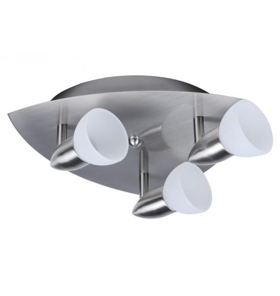 Спот тройка триъгълник LARA хром G9 + подарък LED крушки G9