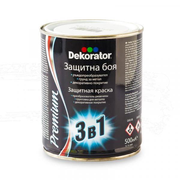 Алкидна боя Dekorator 3в1 0.5л, бяло