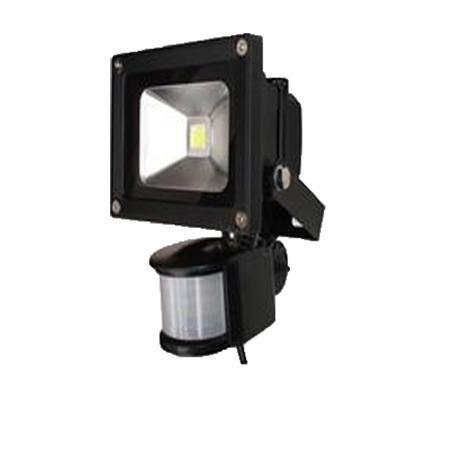 Прожектор със сензор LED 10W черен