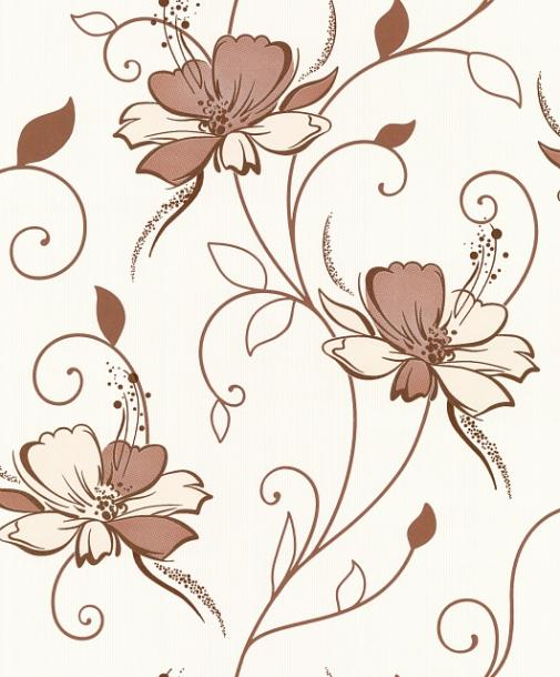 Тапет Винил  Палитра каф.беж.цветя