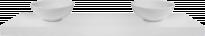 Плот Рамос с две мивки, бял