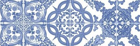 Декор Vintage Classic Azul 20x60