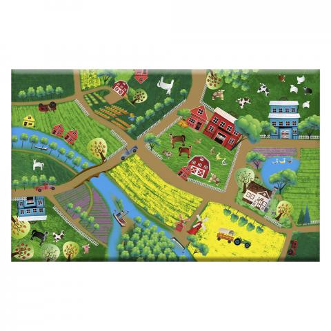 Kилим за детска стая- ферма 100x160