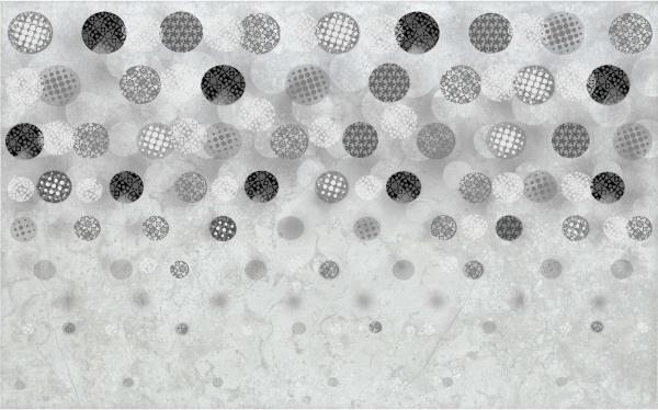 Декоративна плочка Bubbles grey 25x40 см