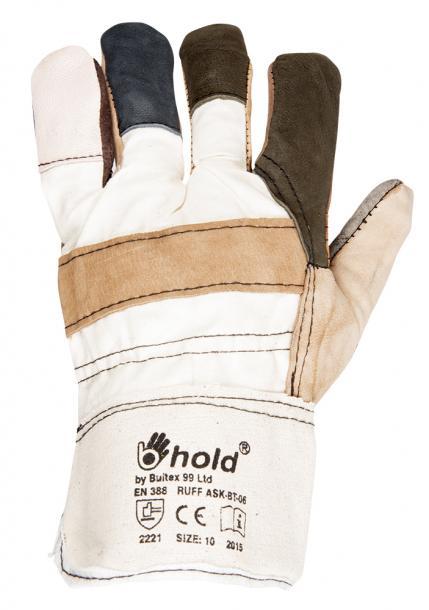 Ръкавици от кожа и плат  10 RUFF