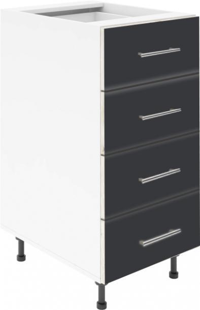 Крафт D4 долен шкаф с четири чекмеджета 40см, венге