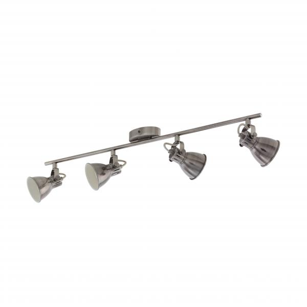 LED спот SERAS четворка GU10  никел мат/крем