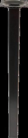 Метален крак25x25x400 черно