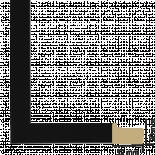 Рамка с паспарту дърво 50х50 см черно