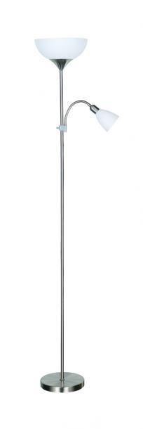 Лампион ARTEMIS II мат. никел 1xE27+1xE14 H178cm