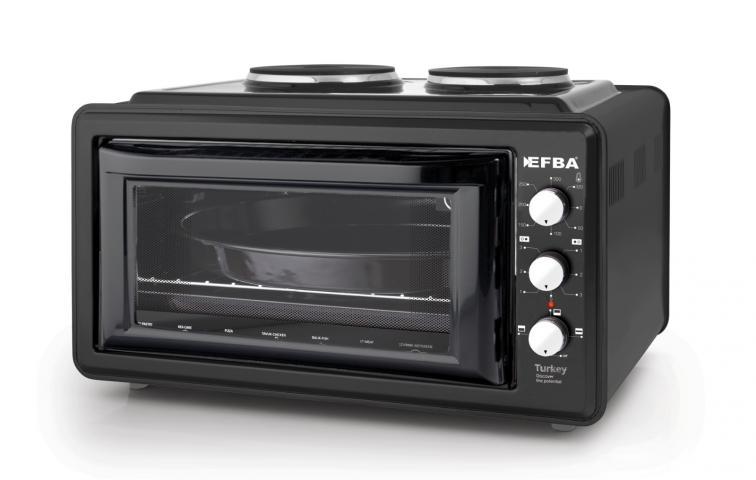 Готварска печка (мини) EFBA 3005, 48л черна
