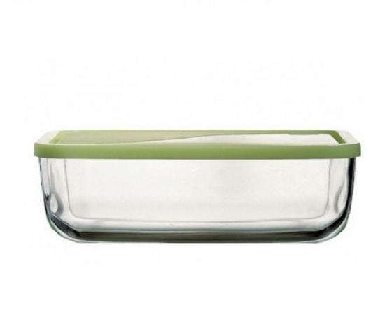 Кутия правоъгълна стъкло с пластмасов  капак