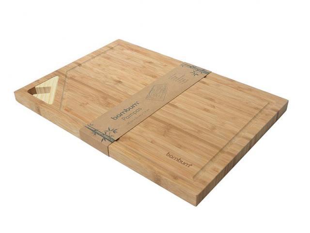 Бамбукова дъска за рязане със стойка 2
