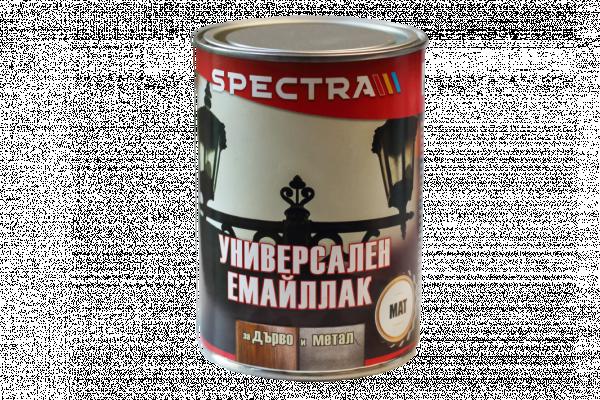 Емайллак Spectra Universal мат 0.65л,бял
