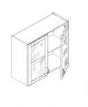Талпи горен шкаф с 2 стъклени врати и рафт 80х29х70.5