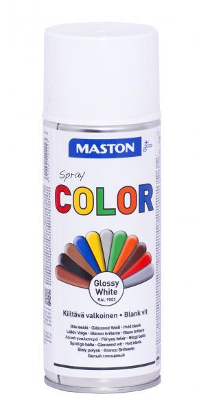 Спрей боя Maston 0.4л, бял гланц