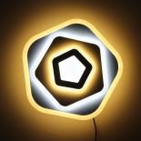 LED плафон Джъстин 49 cm, 95W, 6175Lm, 2800K-6500K,DIM, метал и синтетика