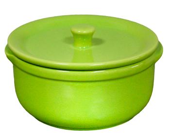 Керамично гювече 14 см/600 мл зелено