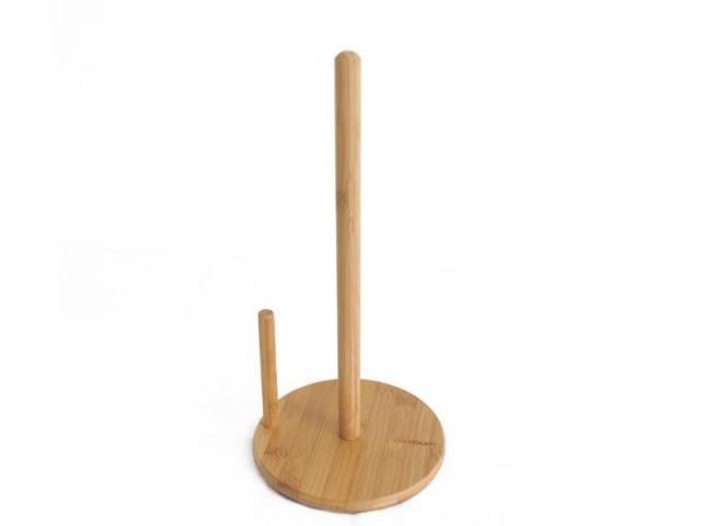 Бамбукова стойка за кухненска хартия