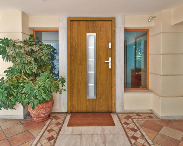 Външна входна врата BERLIN 1008x2068 мм, златен дъб, дясна 4