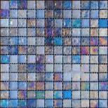Стъклена мозайка син