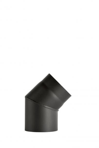 Димоотвод ф130 дъга 45° заварена без вратичка 2мм senotherm® UHT-HYDRO черна
