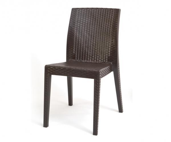 Стол SIENA без подлакътници, кафяв