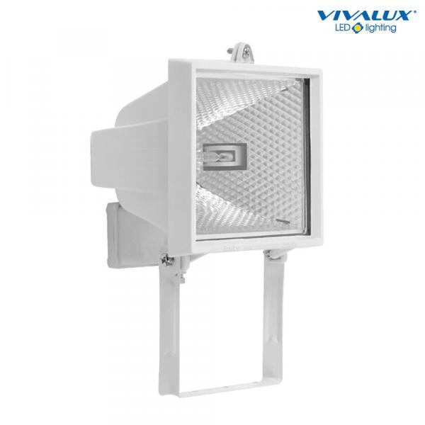 Халогенен прожектор 500W, бял