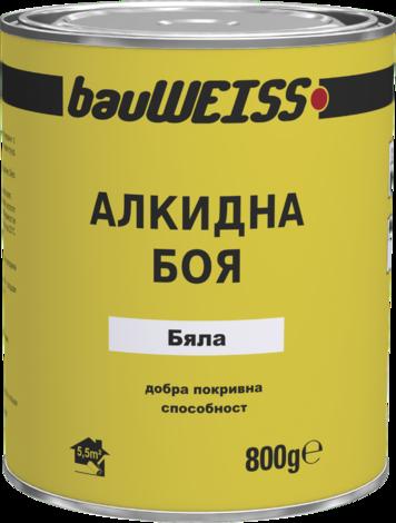 Алкидна боя BauWeiss  0.8 кг