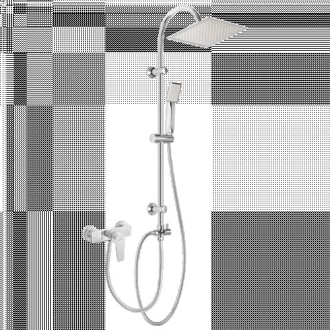 Душ колона Florina и смесител за душ, бял