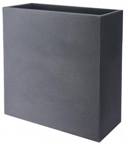 Правоъгълна саксия камък-дизайн 60х26х60см, сиво