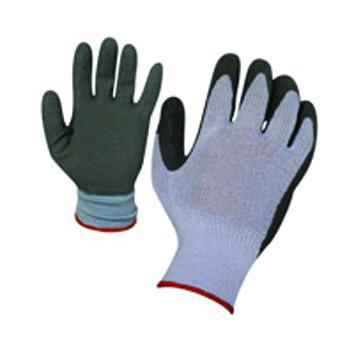 Работни ръкавици сиво трико/латекс