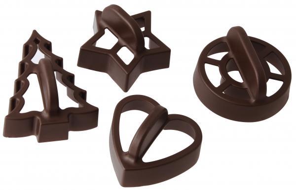4 форми за изрязване на тесто с дръжка