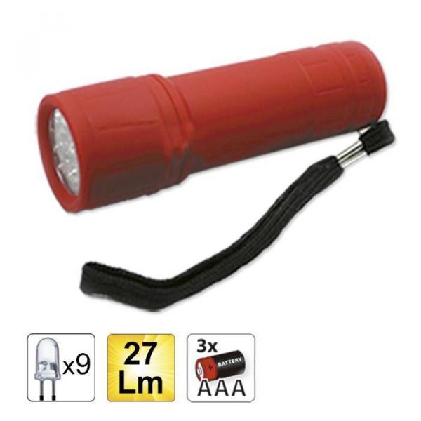 Червено фенерчета с 9 LED JBM