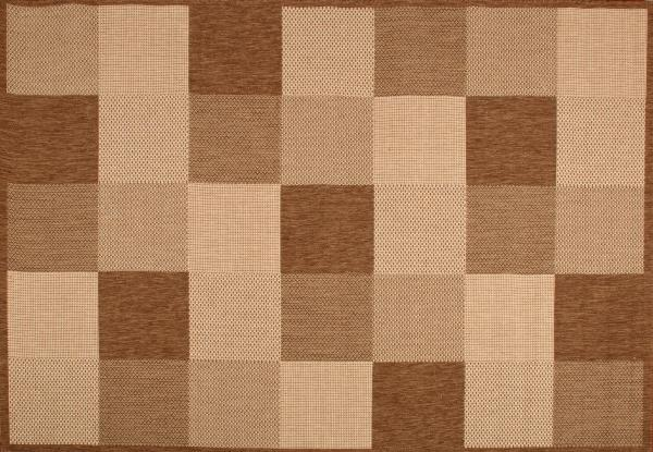 Килим Natura кафяво с геометрични фигури 1.2х1.7 см