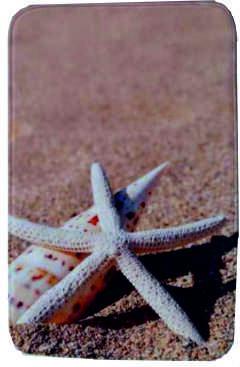 """Килим за баня """"Плаж със звезда"""""""