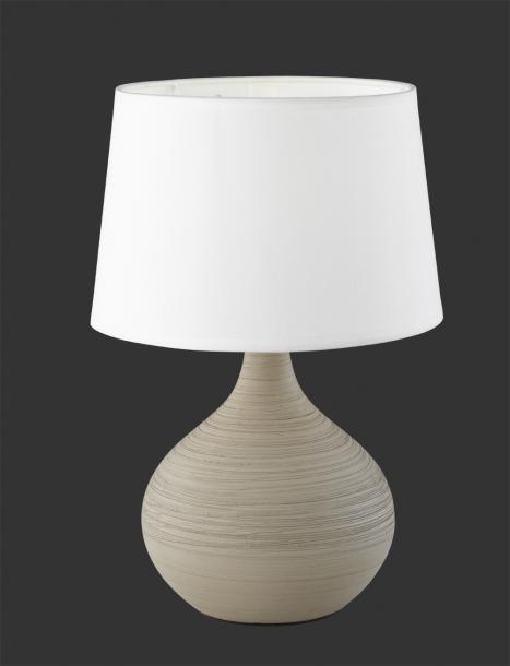 Настолна лампа Martin  h29 cm капучино/бял