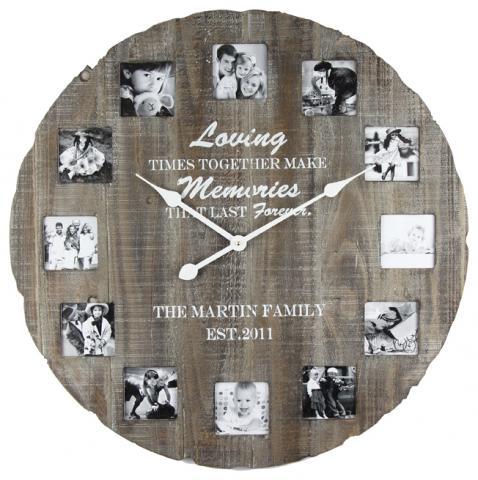 Часовник за снимки тъмен 68 см МДФ