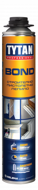 ПУ строително лепило TYTAN PROFESSIONAL BOND 750 мл