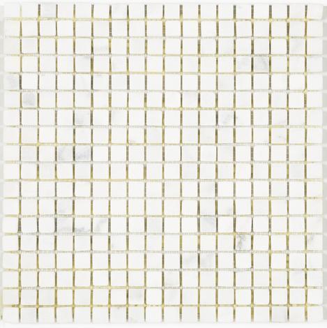 Мозайка мрамор сиво/бял