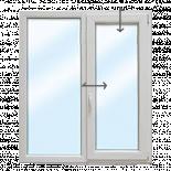 PVC Прозорец 1400/1500 KMG- една фиксирана, една с двуосово отваряне десен