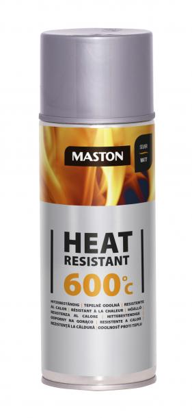 Спрей боя Maston +600°C 0.4л, сребро