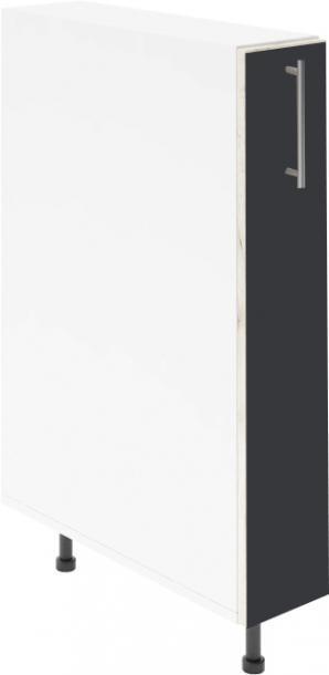 Крафт D14 шкаф с метална бутилиера 15см, венге