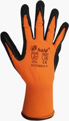 Ръкавици полиамид и латексна пяна Butterfly №10