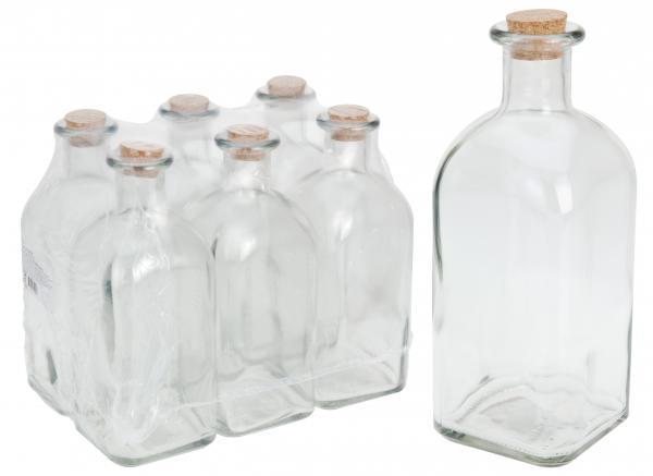 Стъклена бутилка с тапа 1 L