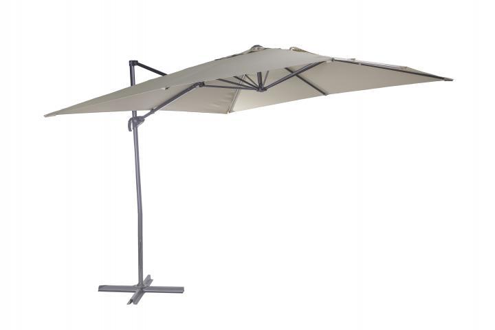 Градински чадър Push up Martinique 2.6x2.6м, беж 2