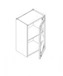 Талпи горен шкаф със стъклена врата и рафт 40х29х70.5