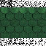 Финска битумна керемида боброва опашка, зелена, 3м2