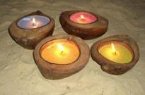 Ароматна свещ в кокос канела