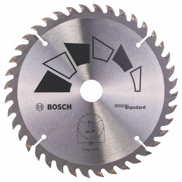 Циркулярен диск 160мм Standard BOSCH